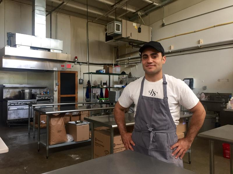 The pastry business is largely a one-man show — Ahmad Aissa says he mixes, bakes, packages and ships about 500 pounds of pastries a week.