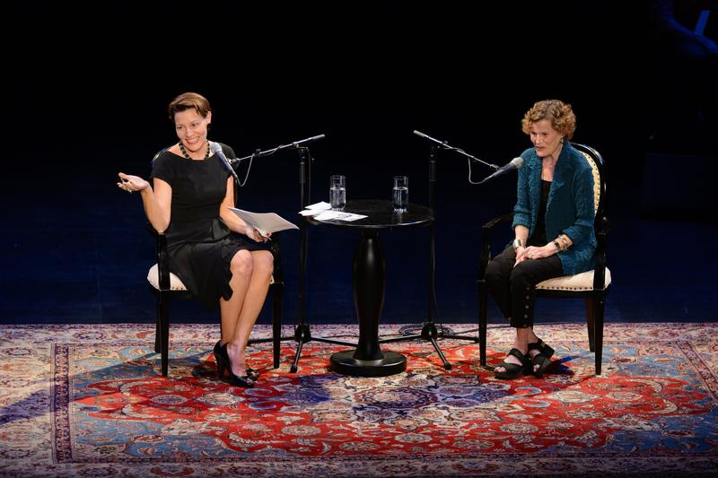 Virginia Prescott and Judy Blume at Writers on a New England Stage