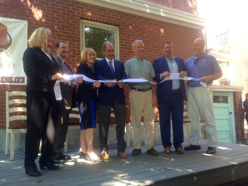 Gov. Maggie Hassan (Center) and Franklin Mayor Ken Merrifield (2nd Left) joined Farnum North employees on Tuesday July 27, 2016,  to officially open the 42 new treatment beds.
