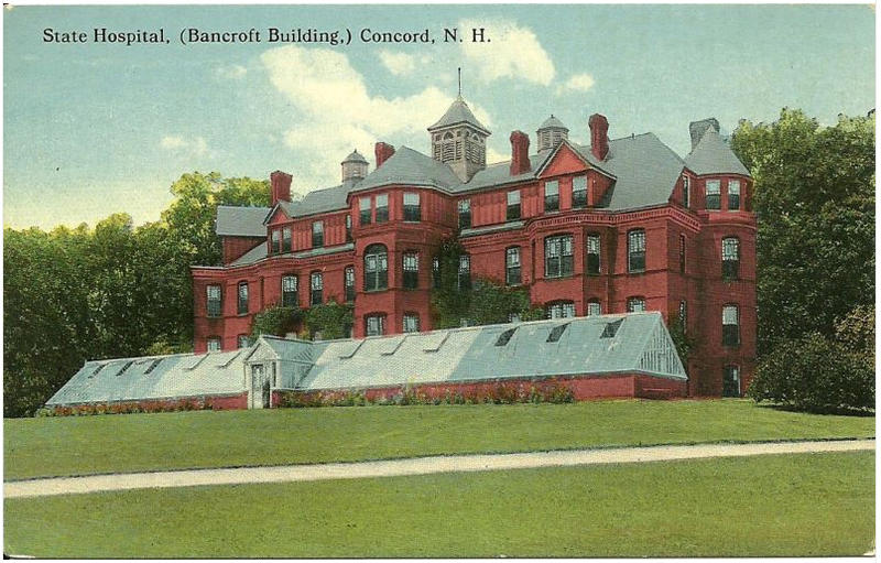 Old Postcard of NH Hospital's Bancroft Building