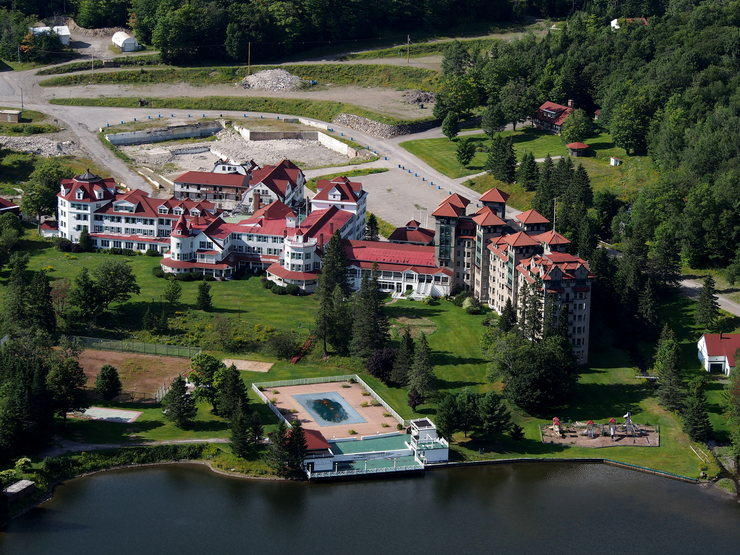 The formerly grand hotel known as The Balsams in Dixville Notch