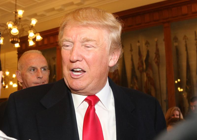 Donald Trump at the NH Statehouse in November 2015