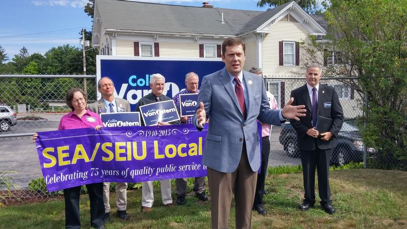 Most of the money spent by public sector unions in recent elections has gone to Democrats, including former gubernatorial candidate Colin Van Ostern.