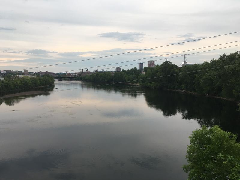 View from a bridge in Manchester, N.H.