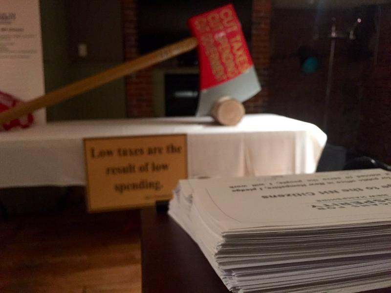 "Stacks of signed ""pledges"" were on display at a ceremony organized by AFP in Concord this week."