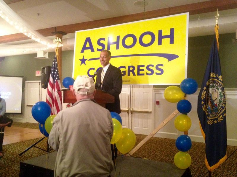 Rich Ashooh told his supporters Tuesday night the race was too close to call.