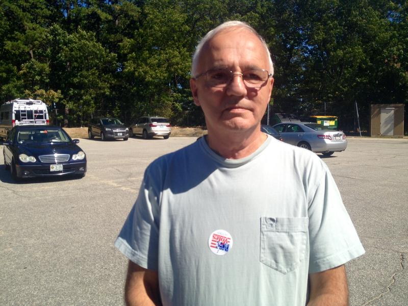 Rejean Roy, 71, voted for the 1st time today at Manchester's Ward 10.