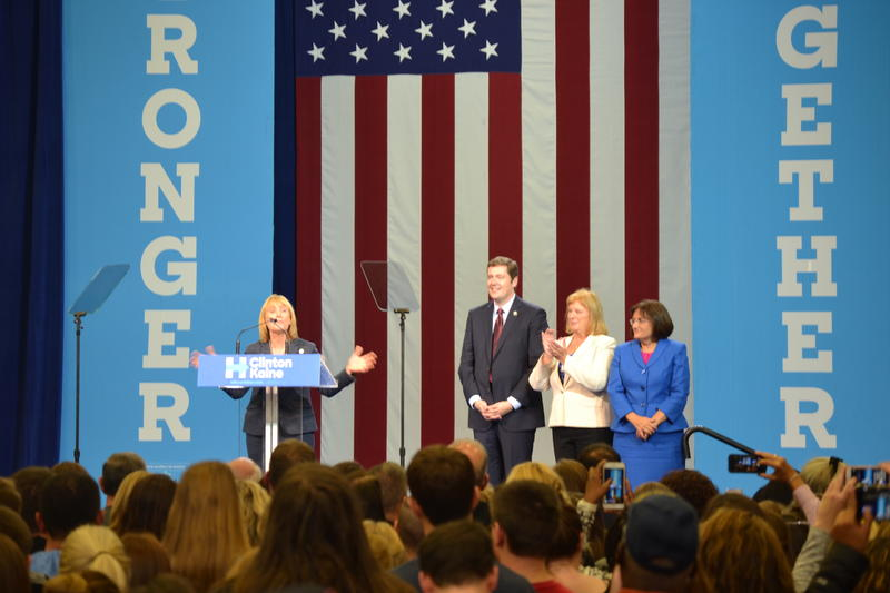 Besides Obama, several New Hampshire Democrats also took the stage Thursday, including Gov. and U.S. Senatorial candidate Maggie Hassan, gubernatorial nominee Colin Van Ostern, former Congressswoman and nominee Carol Shea-Porter and U.S. Rep. Ann Kuster.