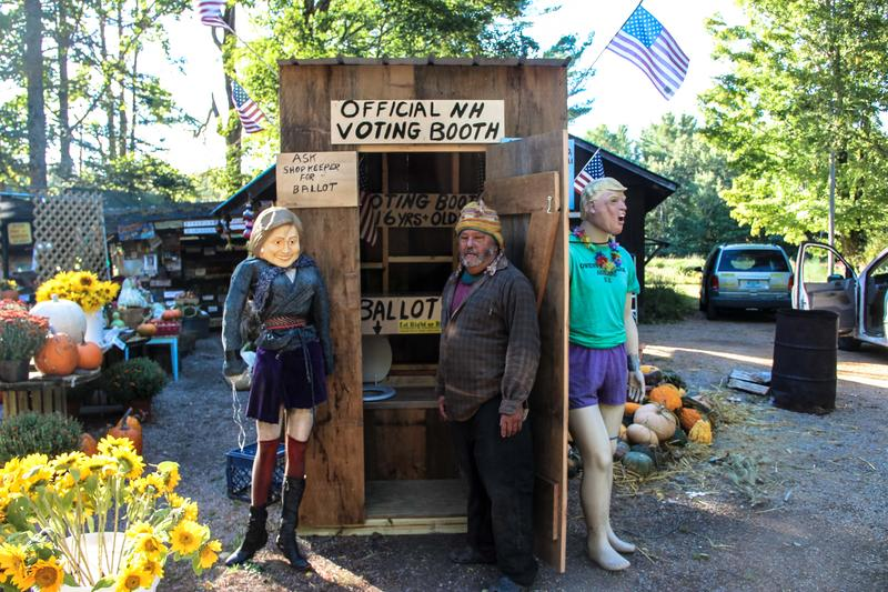 """I always wanted to build an outhouse here,"" says Chris Owens (pictured)"