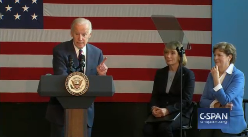 Vice President Joe Biden campaigned for Hillary Clinton at Nashua Community College on Oct. 20, 2016.