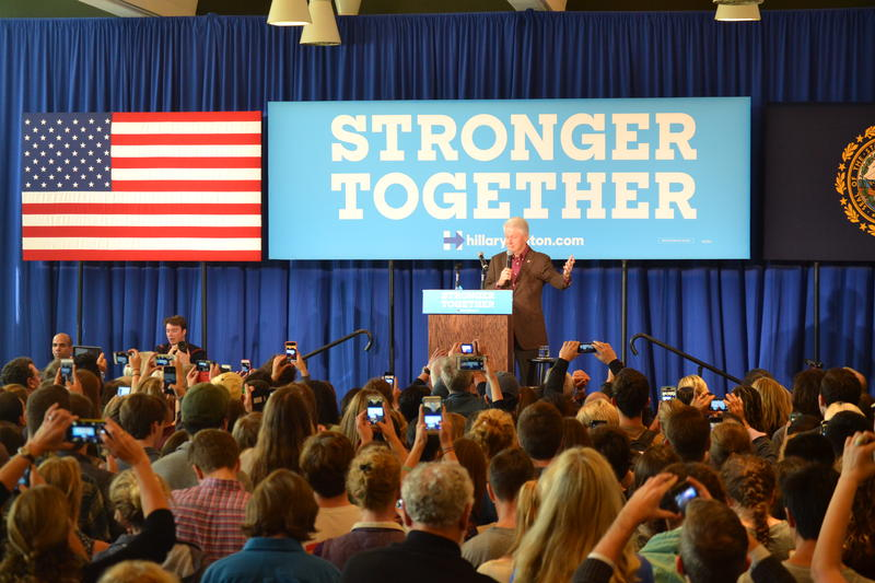 Former President Bill Clinton tells Hanover crowd on Monday, America's future remains bright.