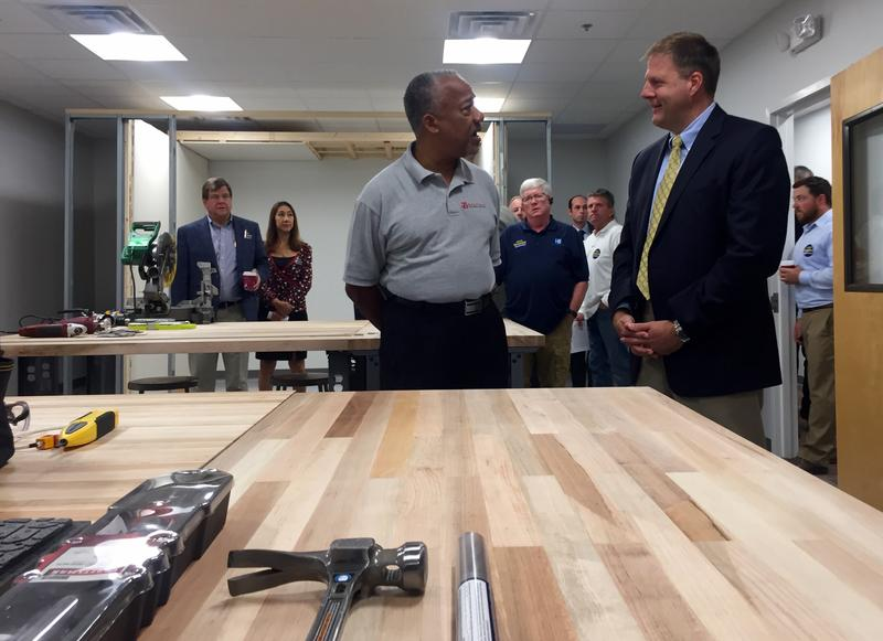 Chris Sununu stopped by Maverick Integration, an automation technology company in Nashua, on Tuesday.