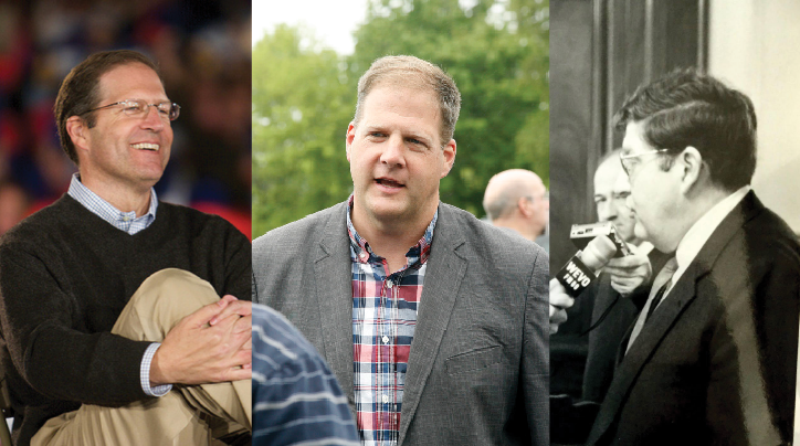 (Left to right) Former Sen. John E. Sununu and Executive Councilor Chris Sununu have followed the political footsteps of their father, former Gov. John H. Sununu.