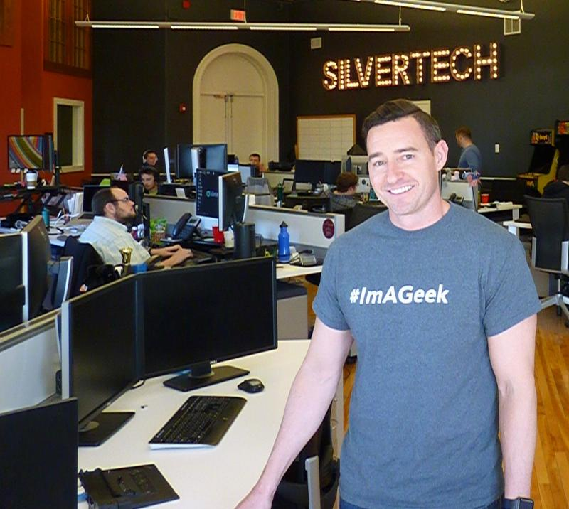 Derek Barka at SilverTech, the Manchester digital marketing firm where he works as Senior Director of Technology.