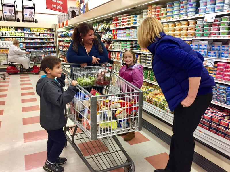 Gov. Maggie Hassan's campaign schedule for the final weekend before the election included stops into several Market Baskets, like this one in Nashua.