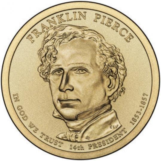Franklin Pierce coin released in 2010