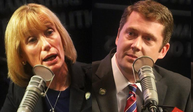 Maggie Hassan and Colin Van Ostern at NHPR forums