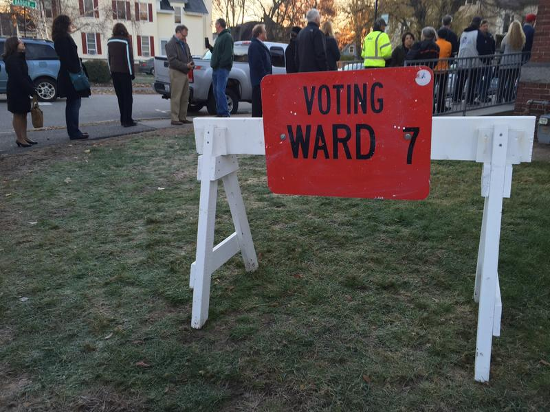 A line of about 150 voters waited for the polls to open at Concord's Ward 7.