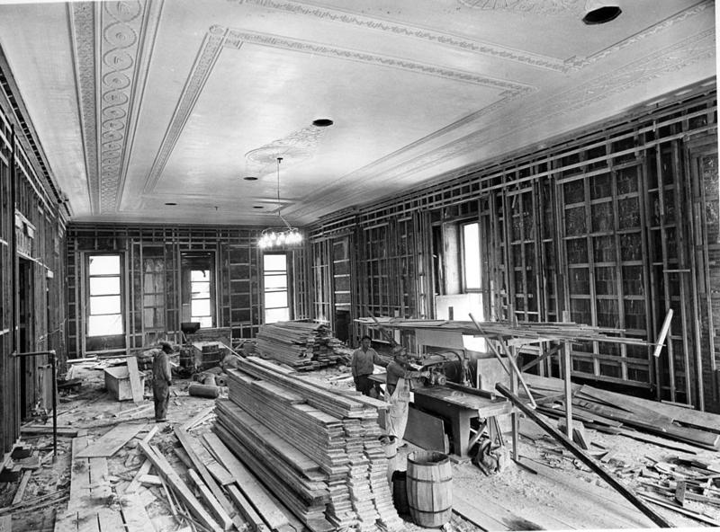 Northeast View in the East Room during the White House Renovation-06-21-1951