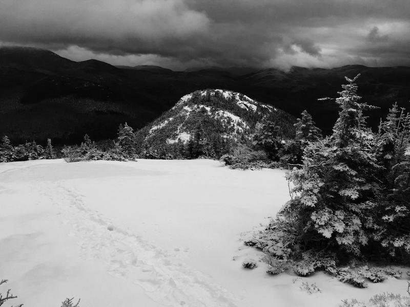 Welch Mountain from Dickey Mountain...with snow.