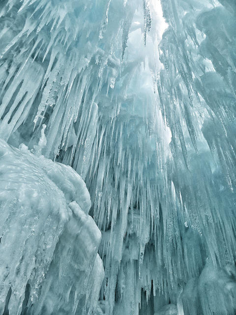 Ice structure at Loon Mountain.