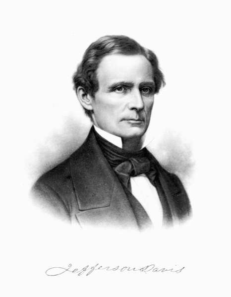 Jefferson Davis, President of the Confederacy and a good friend of Pierce's during his presidency.