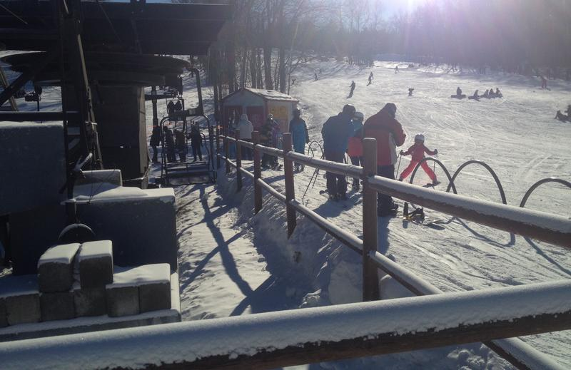 McIntyre Ski Area in Manchester was busy the day after Christmas and expects similar crowds all week.