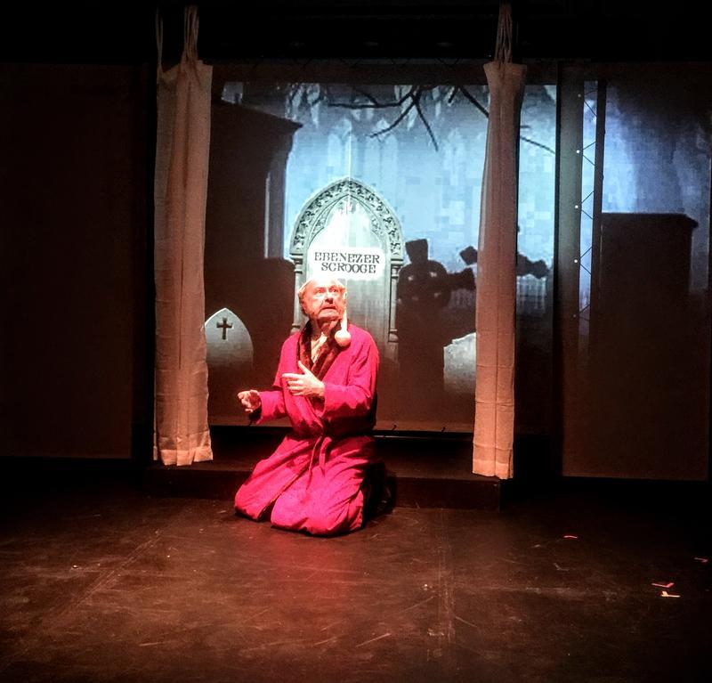 Eric Hodges as Ebenezer Scrooge.