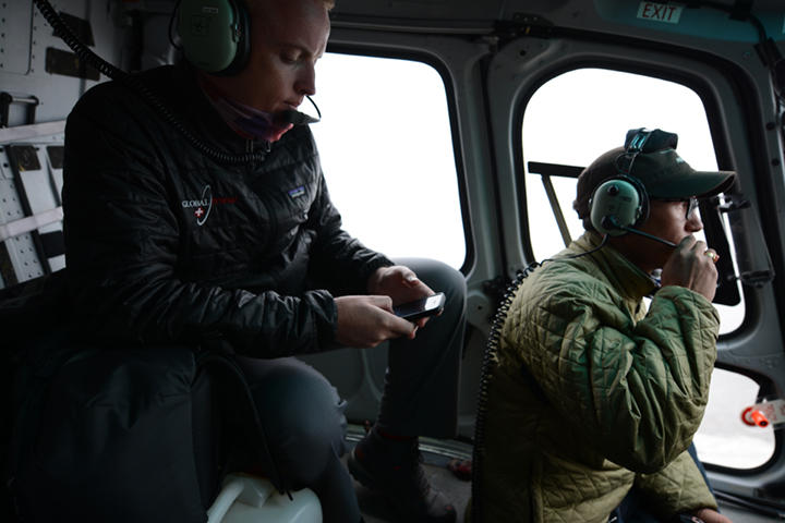 Dan Stretch and a Global Rescue crew on a helicopter evacuation mission.