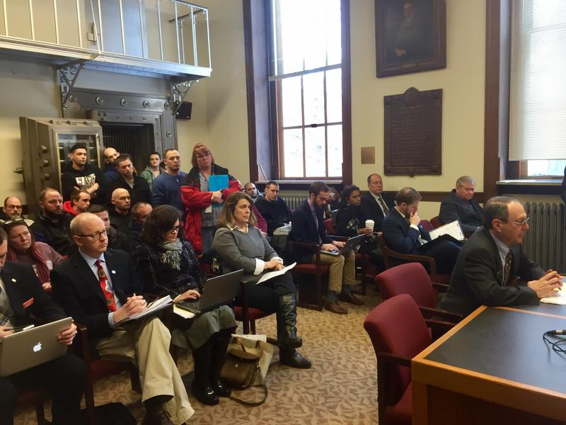 Supporters packed the hearing room Tuesday, Feb. 7, 2016 in favor of fully funding the state's Alcohol Fund, which addresses substance abuse prevention and treatment.