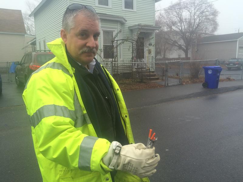 Manchester's Public Health Director Tim Soucy last year picked up nearly a dozen needles while walking around the city.