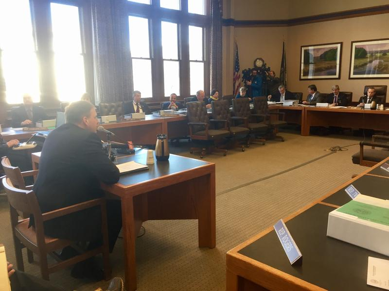 Gov. Chris Sununu told House and Senate Finance Committee members that his budget propsosal is fiscally conservative yet addresses the state's concerns.