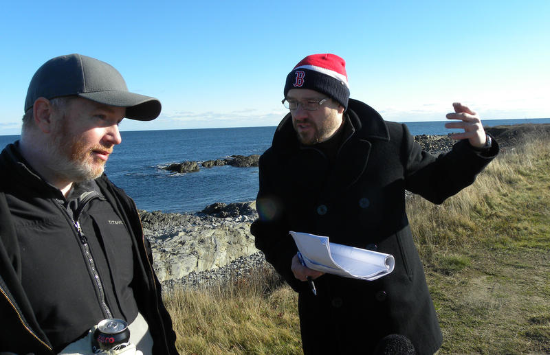 Daniel Gaucher (right) is directing a virtual reality film about the Smuttynose Island murders. Brendan Feeney (left) is a co-creator of the film.