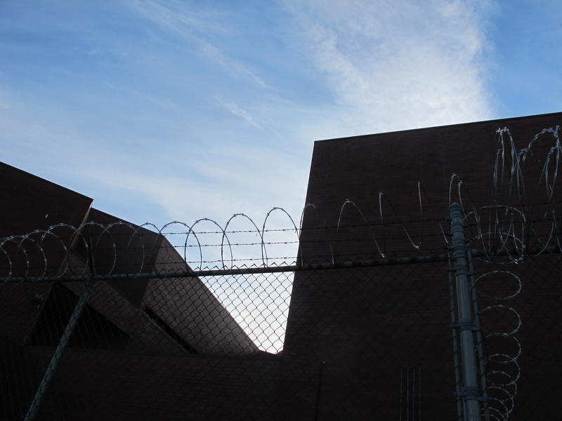 The fence surrounding the Hillsborough County Jail (also called the Valley Street Jail) in Manchester