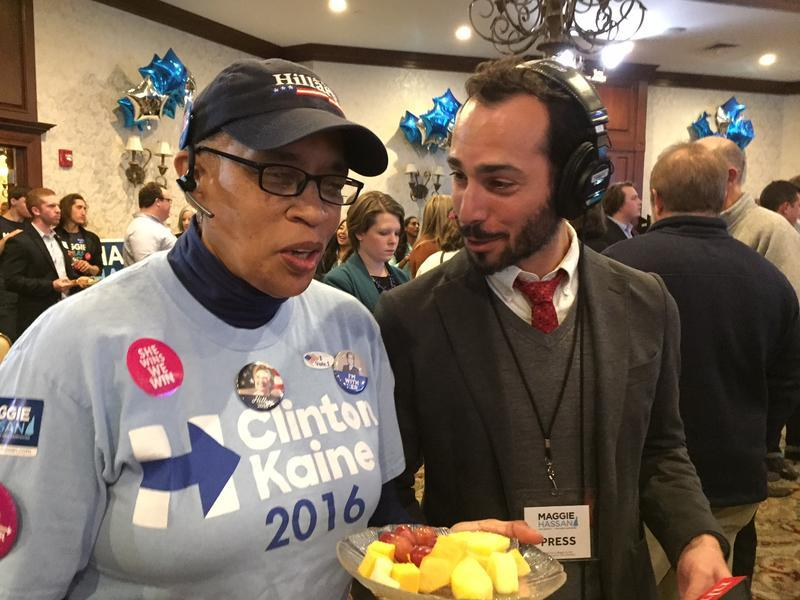 NHPR's Todd Bookman reports from Maggie Hassan's U.S. Senate campaign headquarters on Election Night.