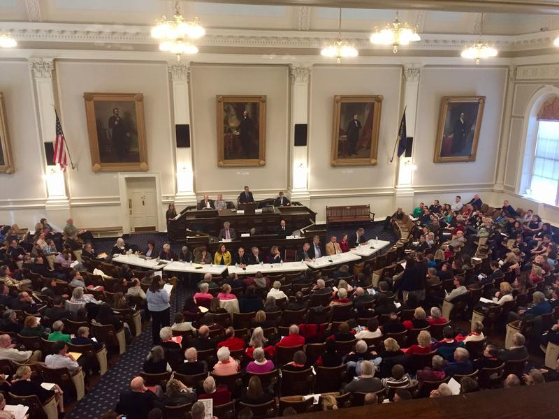 The House Chamber was filled Monday, March 13, 2017 with people testifying on the state's upcoming budget.
