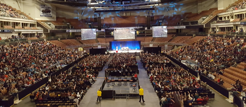 The SNHU Arena in Manchester was packed for New Hampshire's first Youth Summit on Opioid Awareness.
