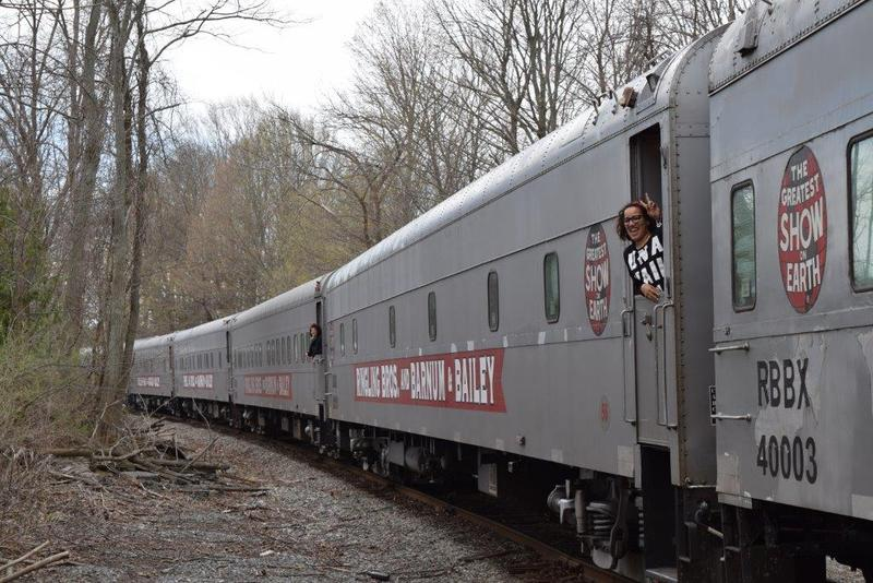 The final circus train as it passed through New Hampshire