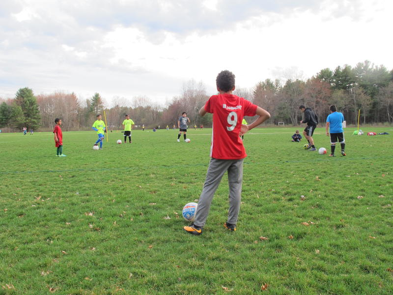 Cameron Rodrigues, 11, plays on LHIFA's U-12 team.
