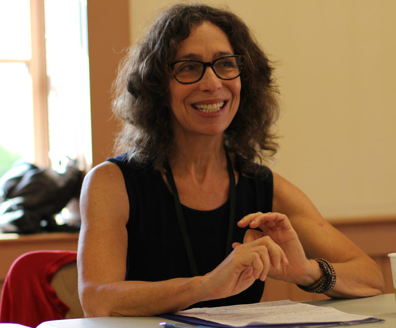 "Alice Fogel participates in ""A Panel Discussion of Poetry and Community"" at the New Hampshire Poetry Festival on Saturday, Sept. 24, 2016."