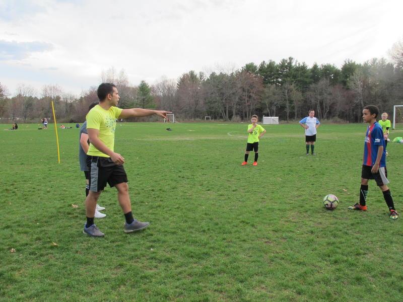 Jared Barbosa, coaches LHIFA's U-12 team.