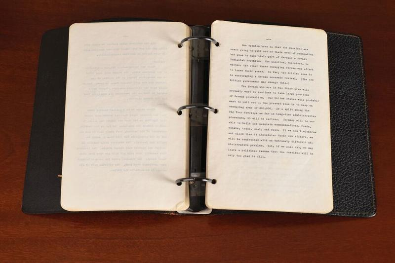 While working as a journalist in 1945, John F. Kennedy kept a diary as he toured Europe.