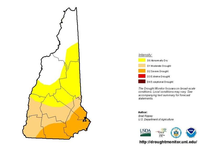 This map shows the area hit hardest by last year's drought.