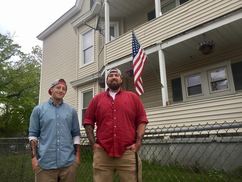 Erik Peterson (right) and Travis Statler (left) are house managers at Richie's Recovery in Manchester.