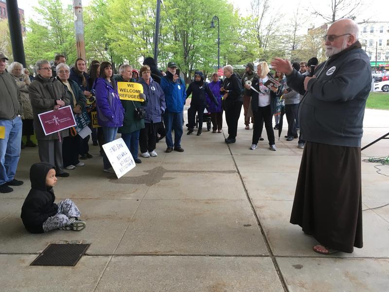 Fr. Joseph Gurdak adresses May Day rally in Manchester