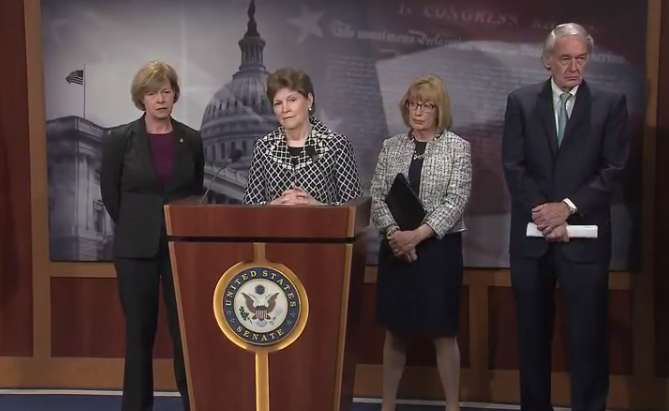 U.S. Senator Jeanne Shaheen and Maggie Hassan attended a presser Tuesday focused on how the Trump Admistration is not living up to promises to address the ongoing opioid crisis.