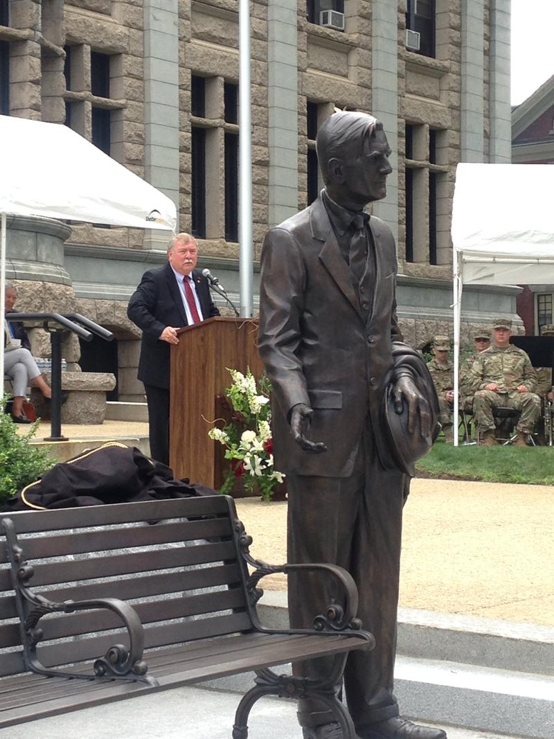 House Democratic Leader Steve Shurtleff, who helped lead the Winant Memorial effort, speaking during the ceremony.
