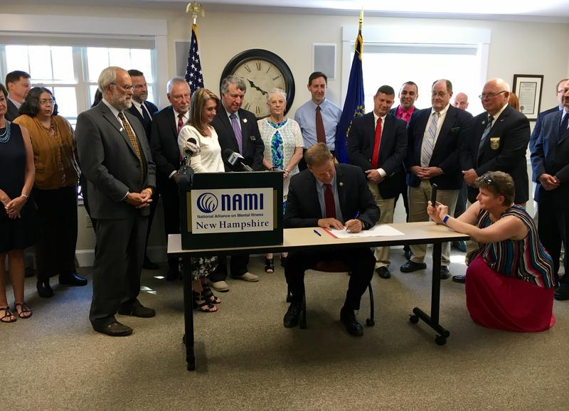 Lawmakers and local mental health advocates gathered with Gov. Chris Sununu to celebrate the bill signing Wednesday.