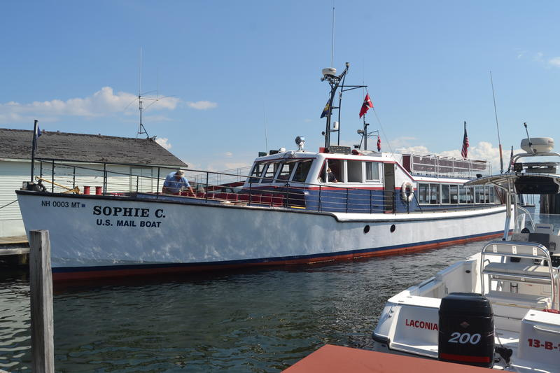 The Sophie C docked in Weir's Beach has been delivering mail to Lake Winnipesaukee's islands since 1969.