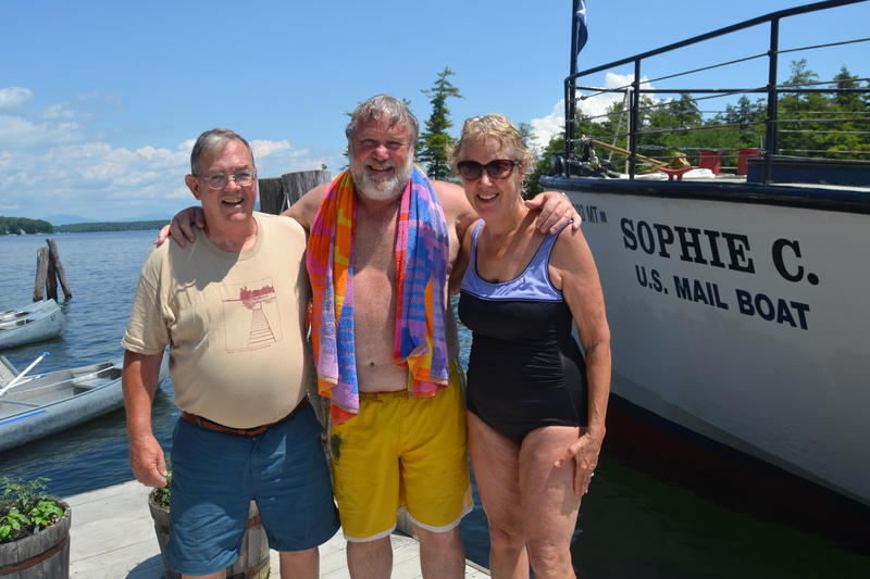 Bob Armstrong (center) has been coming to Three Mile Island every summer since he was 4. He's now 69.